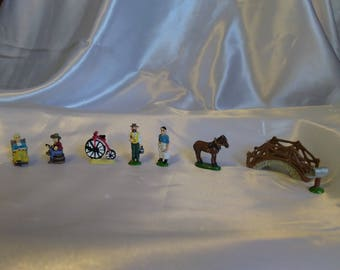 35 Miniature pewter figurines.  Liberty Falls collection.