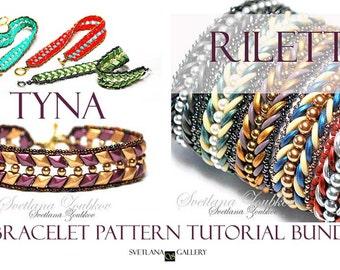 Bracelet Beading Pattern Tutorial Bundle Riletta Tyna Crescent Diamond Duo Beads