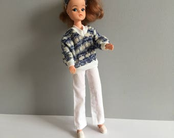 Sindy Leisure Lady outfit 1980, vintage Sindy doll clothes, fab condition.
