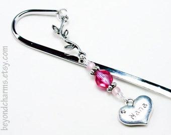 Pink Nana Bookmark. Silver Grandma Bookmark Gift. Nana Gift for Mothers Day. LBK071