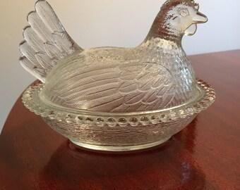 Vintage Hen on nest