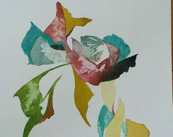 """SUMMER SALE  Untethered Series   """"Comsi Comsa Tango"""" original one of a kind watercolor."""