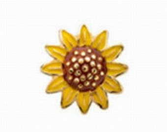 Floating Charm ~ 1 piece of Sunflower  FC051
