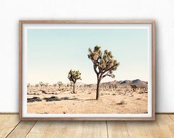 Joshua Tree Print, Digital Download, Desert Cactus Photography, Printable Wall Art, Boho Decor, Large Poster Print, Landscape Photography
