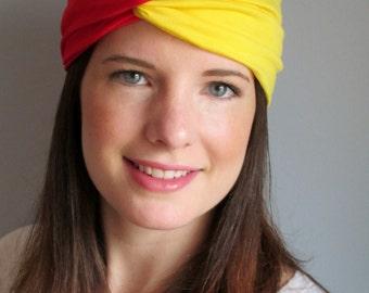 Kansas City Headband, Red and Yellow Turband, Sports Headband, Team Headband, College Headbands, Basketball Headband, Sport Gear,Soccer Band