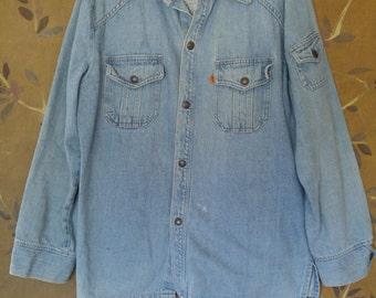 70s Mens Levis denim shirt