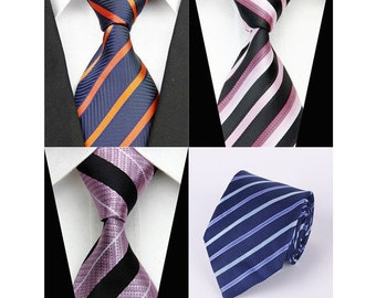 4 Different Striped Designer Ties - Made by Ties4Guys