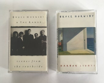 Bruce Hornsby - Scenes from the southside - Harbor Lights - 2 vintage music tape cassette - jazz rock - 1993 - Free shipping Canada USA