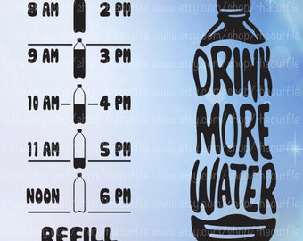 Drink Up Buttercup Water Tracker Svg Water Reminder Cut