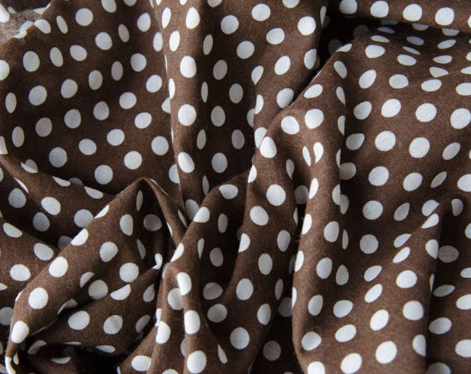 Beautiful Chocolate Brown Dot Stock Tie