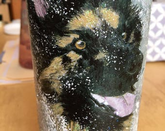 German Shepherd Wine Bottle
