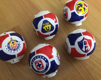 Mexican Soccer Teams Plastic Mexican Favor Game Toy Mini