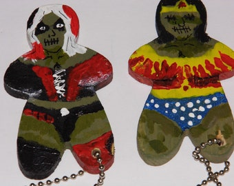 Superhero Zomboobies! Zombies with Huge Boobies! Key chains! Wonder Woman Harley Quinn Fan Art! Prirotiy Shipping!!
