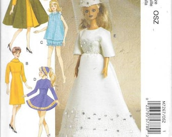 Fashion Doll 11 1/2 Doll Clothes,  New Uncut McCalls Pattern 7267