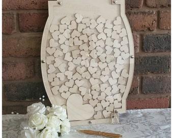 Wedding Drop Box, Wooden Guest Book, Alternative Guest Book, Heart Guest Book, Wooden Guest Book, Wedding Box, Craft Supplies