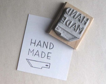 Hand Made X-Acto Blade Label - Hand-Carved Stamp
