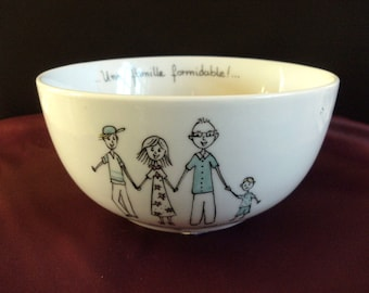 "Personalized Bowl ""family"""