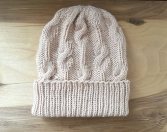 Handmade knit hat for woman