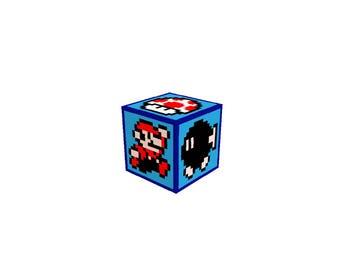 Super Mario Bros 3 Perler Bead Pixel Art Storage Box or Coin Bank