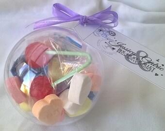 Surprise balls 5 children wedding. Gift plate. Customizable