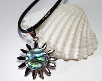 Abalone Necklace, Abalone Pendant, Abalone, Abalone Jewelry, Paua Shell Necklace, Paua Shell Jewelry, Abalone Shell, Beach Necklace, Silver