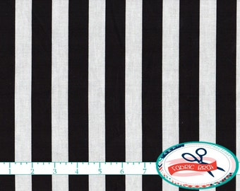 BLACK and WHITE STRIPE Fabric by the Yard Fat Quarter 7/8 Inch Striped Fabric Quilting Fabric 100% Cotton Fabric Apparel Fabric Yardage a3-9