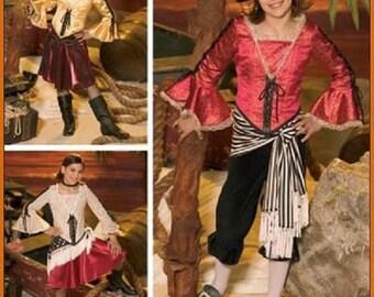 Sew & Make Simplicity 4469 / 4912 SEWING PATTERN - Girls Pirate Wench Costumes sz 7-14