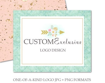 Custom Logo Design For Small Crafty Business-Color Logo Background, Logo Transparent Background,Logo 50% Transparency,Black&White Watermarks
