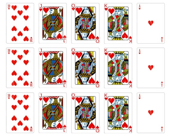 Casino Poker Cards Hearts Designer Strips - Edible Cake Side Toppers- Decorate The Sides of Your Cake! - D22838
