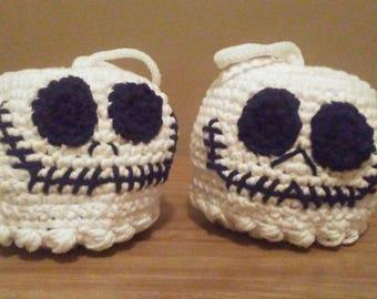 Bath Pouf, Skull Pouf, Skull Scrubby, Crochet Pouf, Character Pouf, Cotton Bath Scrubby, Bath Toy, Bath Poof, Character Scrubby, Washcloth