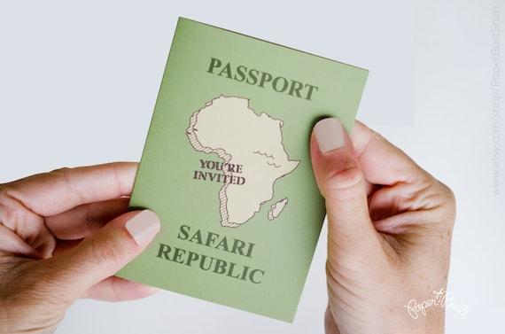 Safari party passport invitation safari birthday safari solutioingenieria Images