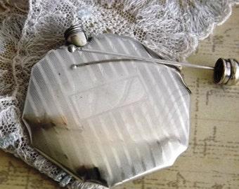 Perfume Holder - Silverplate Perfume Holder -  Art Deco - Vintage Perfume Holder - Perfume Sniffer - by avintageobsession on etsy