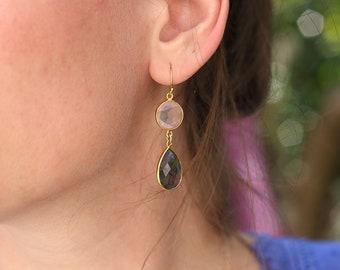 Bohemian earrings in Gold plated