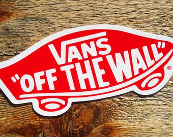 Vintage 80s Vans Off The Wall Lg 5 Skateboard Sticker
