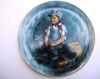 Vintage Collectible Plate - When I Grow Up - The World of Children - John McClelland