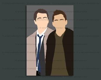 Supernatural Destiel print – Dean x Castiel OTP – 6 x 4 art print