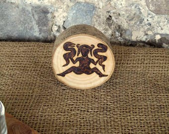 Goddess, Gaia Altar piece, Wood, Lady of the beasts, Earth mother, Woodland, Runestone, Picture stone, Pagan, Wicca, Rustic, forest,