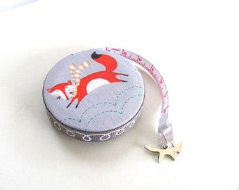 Tape Measure  Foxes Wearing Scarves Retractable Measuring Tape
