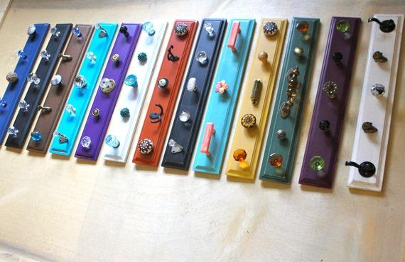 Colorful unique Hook Rack - pick one