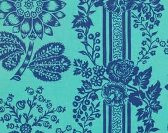 Happy Land in Candice Blue designed by Jennifer Paganelli for Free Spirit Fabrics - 4 Yards - Great Price