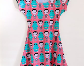 Pee Wee Herman & Chairry Skater Fit and Flare Dress - Size S - 3X