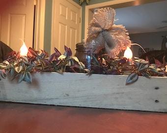 Pallet planter centerpiece, pallet planter, reclaimed planter, mason jar centerpiece, reclaimed wood planter