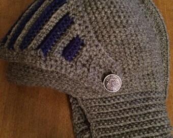 Knight's Helmet for Adults crochet pattern