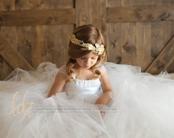Here Comes the Bride White Flower Girl Tutu Dress
