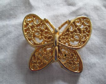 "CORO gold Butterflybrooch pin measures 1 3/4""x 1 1/2"""