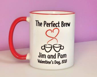 The Perfect Brew Mug | Couples Coffee Mug | Personalized Valentine's Day Gift | Personalized Wedding Gift | Personalized Coffee Mug