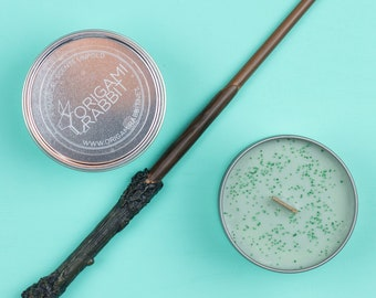 Harry Potter Inspired Regular Wood Wick Soy Wax Candle // Forbidden Forest
