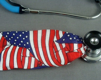 American Flag Stethoscope Cover   Independence Day Stethoscope Cord Cover   Nurse Doctor Gift   Stethoscope Accessories   Stethoscope Sock