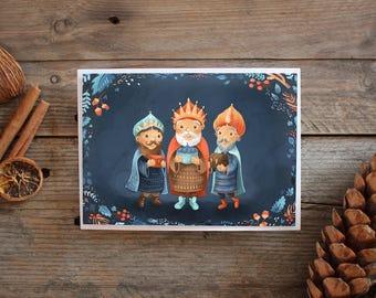 Christmas Kings - Illustrated Greetings Card
