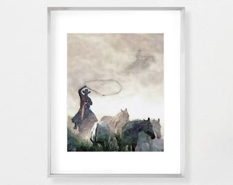 Wild West Print, Farmhouse Style, Cowboy Art, Western Print, Nursery Print, Nursery Wall Art, Nursery Art, Instant Download, Printable Art